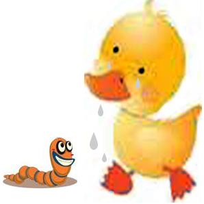 El pato y la lombriz